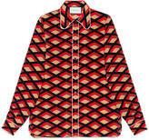 Gucci Rhombus print silk 70's shirt