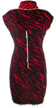Unravel Project zebra knit dress