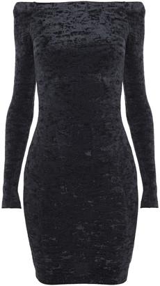 Balenciaga Off-the-shoulder Stretch-velvet Mini Dress