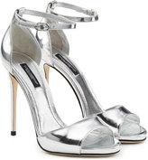 Dolce & Gabbana Metallic Leather Stiletto Sandals