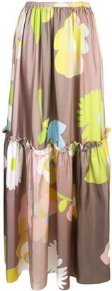Cynthia Rowley ashley pop floral long skirt