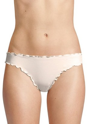 Eberjey Swim Sandy So Solid Ruffled Bikini Bottom