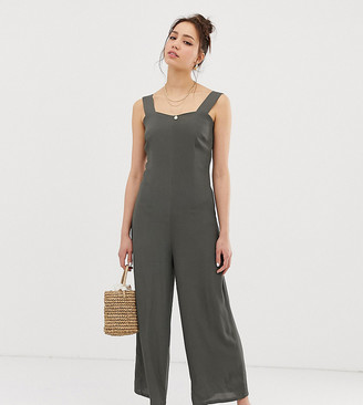 Glamorous Tall minimal jumpsuit with button back straps