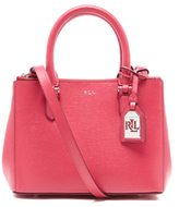 Lauren Ralph Lauren Women's Newbury Mini Double Zip Satchel - Rouge