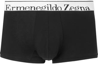 Ermenegildo Zegna Melange Stretch-Cotton Boxer Briefs