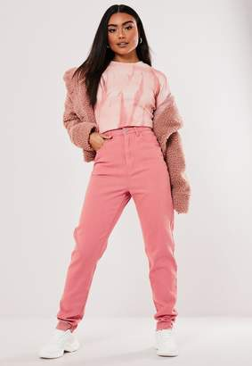 Missguided Tall Terracotta Highwaisted Mom Jeans