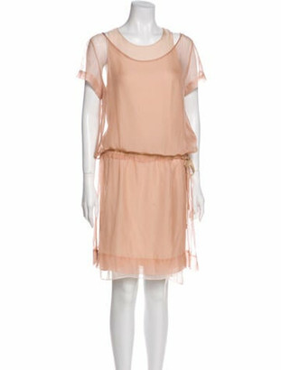 Brunello Cucinelli Silk Mini Dress Pink