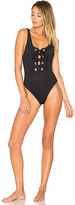Mara Hoffman Lace Up Front One Piece