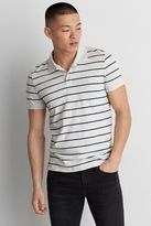 American Eagle Outfitters AE Stripe Jersey Polo Shirt