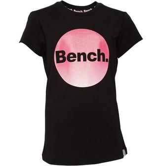 Bench Junior Girls Alessia T-Shirt Black/Pink
