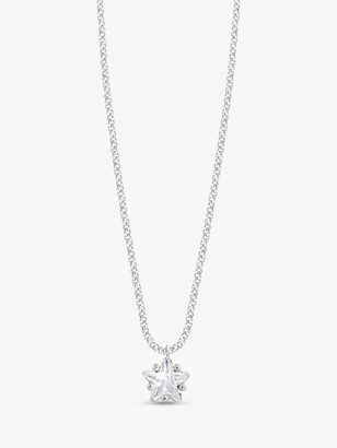 Joma Jewellery Astra Star Pendant Necklace, Silver
