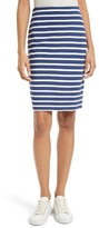 L'Agence Women's Stripe Pencil Skirt