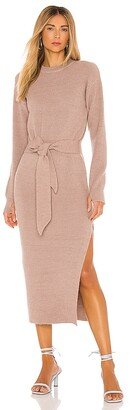 LPA Long Sleeve Ribbed Dress