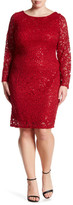 Marina Sequin Lace Dress (Plus Size)