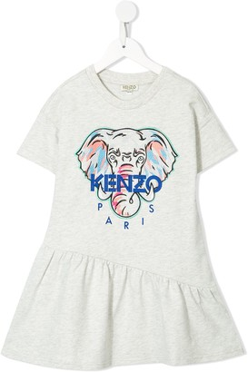 Kenzo Kids Elephant Logo Dress