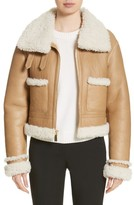 Michael Kors Women's Genuine Shearling Moto Jacket