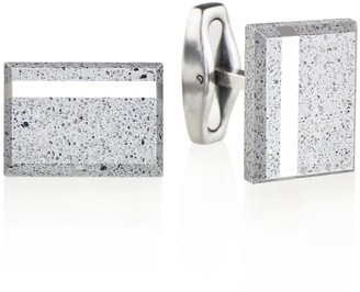 Gravelli Falcon Steel Concrete & Surgical Steel Cufflinks Grey