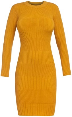 Cliché Reborn Knit Bodycon Long Sleeve Dress
