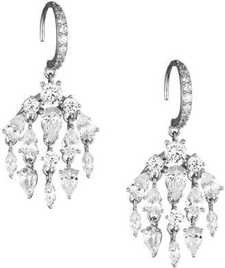 Adriana Orsini Silvertone & Cubic Zirconia Small Drop Earrings