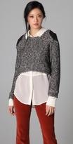 Porter Grey Tweed Knit Pullover