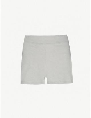 Lunya Restore mid-rise cotton-blend shorts