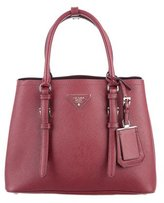 Prada Small Saffiano Cuir Double Handle Tote
