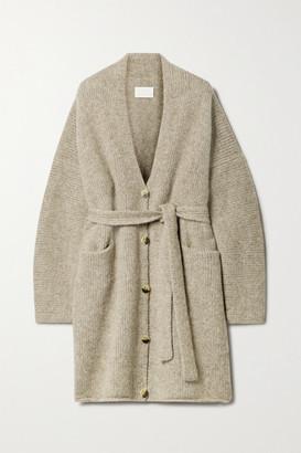 LAUREN MANOOGIAN Belted Knitted Cardigan - Mushroom