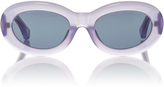 Linda Farrow Dries Van Noten Lilac Lucite Sunglasses