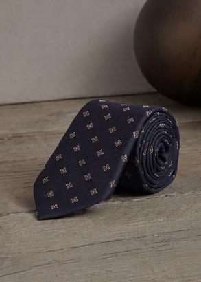 Brunello Cucinelli Men's Medallion Wool-Silk Tie