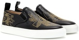 Chloé Susanna embellished leather slip-on sneakers