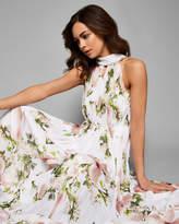 NICEE Harmony pleated maxi dress
