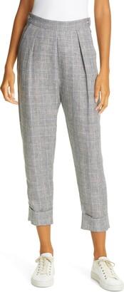 Rachel Comey Westside Glen Plaid Linen Trousers