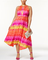 INC International Concepts Plus Size Popsicle Printed Halter Dress, Created for Macy's
