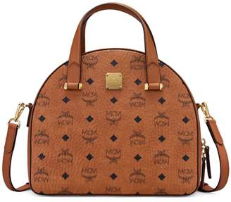 MCM Essential Visetos Round Tote Bag