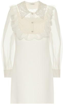 Miu Miu Silk-blend mini dress