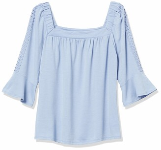 Amy Byer Women's Square Neck Top
