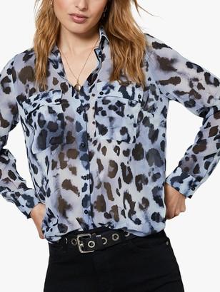 Mint Velvet Audrey Leopard Blouse, Multi