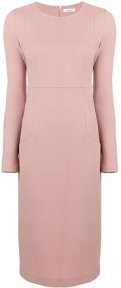 P.A.R.O.S.H. Long Sleeve Fitted Dress