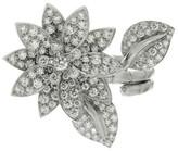 Van Cleef & Arpels 18K White Gold Lotus Diamond Ring