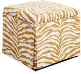 Skyline Furniture Anne Skirted Storage Ottoman, Ochre