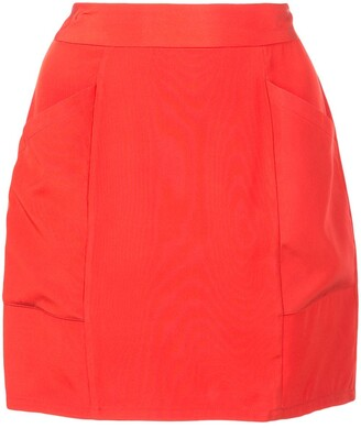 Fleur Du Mal High-Waisted Mini Skirt