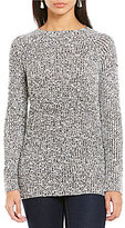 Daniel Cremieux Jayla Sequin Knit Long Sleeve Top