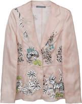 Alberta Ferretti semi-sheer embellished tulle jacket
