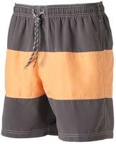 Croft & Barrow Big & Tall Colorblock Swim Trunks