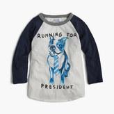 "J.Crew Boys' three-quarter-sleeve Frenchie ""running for president"" T-shirt"