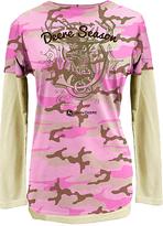 John Deere Pink Camo Layered Tee - Plus