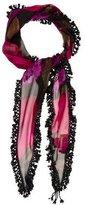 Prada Embellished Silk Scarf