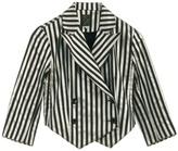 LABOUR OF LOVE - Striped cotton Clown blazer