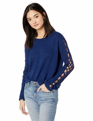 Jack by BB Dakota Women's The Snuggle is Real Crew Neck Sweater