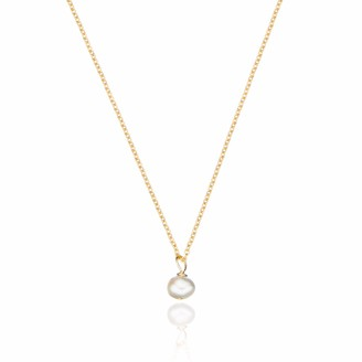 Lily & Roo Gold Single Pearl pendant Necklace